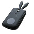 Rabbit TPU Soft Skin Cases Covers for Blackberry Bold 9000 - Black