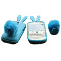 Rabbit TPU Soft Skin Cases Covers for Blackberry Bold 9000 - Blue