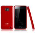 Boostar TPU soft skin cases covers for Samsung i9100 i9108 i9188 Galasy S2 - Red