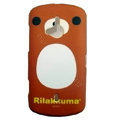 Cartoon Rilakkuma Scrub Hard Cases Covers for Sony Ericsson WT19i - Brown