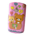 Cartoon Rilakkuma Scrub Hard Cases Covers for Sony Ericsson WT19i - Pink