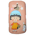 Cartoon Sakura momoko Scrub Hard Cases Covers for Sony Ericsson WT19i - Pink