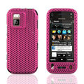 Front and Back Mesh Cases Skin Covers for Nokia N97 mini - Rose
