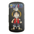 Monkey D. Luffy Scrub Hard Cases Covers for Sony Ericsson WT19i - Black