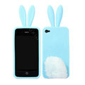 Rabito Rabbit Ears Silicone Cases Covers for iPhone 4G/4S - Blue