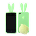 Rabito Rabbit Ears Silicone Cases Covers for iPhone 4G/4S - Green