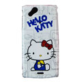 Hello kitty Hard Cases Covers for Sony Ericsson Xperia Arc X12 LT15I LT18i - Blue