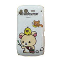 Birds Rilakkuma Hard Cases Skin Covers for HTC Desire S G12 S510e - White