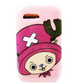 Cartoon Chopper Hard Cases Skin Covers for Samsung S5360 Galaxy Y I509 - Pink