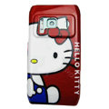 Cartoon Hello kitty Hard Cases Covers Skin for Nokia N8 - Red