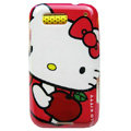 Cartoon Hello kitty Hard Cases Covers for Motorola Defy ME525 MB525 - Red