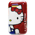 Cartoon Hello kitty Hard Cases Skin Covers for Motorola Defy ME525 MB525 - Red