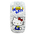 Cartoon Hello kitty Hard Cases Skin Covers for Nokia C7 C7-00 - White
