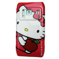 Cartoon Hello kitty Hard Cases Skin Covers for Nokia N8 - Red