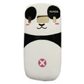 Cartoon Panda Hard Cases Skin Covers for Nokia C7 C7-00 - Pink