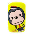 Cartoon Paul Frank Hard Cases Covers for Samsung S5360 Galaxy Y I509 - Yellow