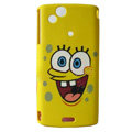 SpongeBob SquarePants Scrub Hard Cases Covers for Sony Ericsson Xperia Arc LT15I X12 LT18i - Yellow