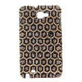 Bling Leopard Swarovski Crystals Cases Covers For Samsung Galaxy Note i9220 N7000 - Brown