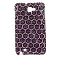 Bling Leopard Swarovski Crystals Cases Covers For Samsung Galaxy Note i9220 N7000 - Purple