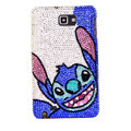 Bling Stitch Swarovski Crystals Cases Covers For Samsung Galaxy Note i9220 N7000 - Blue