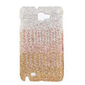 Bling Swarovski Crystals Cases Covers For Samsung Galaxy Note i9220 N7000 - Gradient Gold