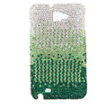 Bling Swarovski Crystals Cases Covers For Samsung Galaxy Note i9220 N7000 - Gradient Green