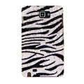 Bling Zebra Swarovski Crystals Cases Covers For Samsung Galaxy Note i9220 N7000 - Black