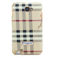 Burberry Kingpad Luxury leather Cases Holster for Samsung Galaxy Note i9220 N7000 - Beige