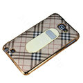 Burberry Luxury leather Cases Holster Skin for Samsung Galaxy Note i9220 N7000 - Beige