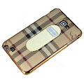 Burberry Luxury leather Cases Holster for Samsung Galaxy Note i9220 N7000 - Beige