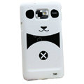 Couple Panda Hard Cases Skin Covers for Samsung i9100 i9108 Galasy S II S2 - Black