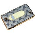 GUCCI Luxury leather Cases Holster for Samsung Galaxy Note i9220 N7000 - Gray