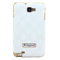 Kingpad GUCCI Luxury leather Cases Holster for Samsung Galaxy Note i9220 N7000 - White
