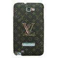 Louis Vuitton LV Luxury leather Cases Holster Skin for Samsung Galaxy Note i9220 N7000 - Brown