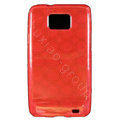 TPU Soft Skin Cases Covers for Samsung i9100 i9108 Galasy S II S2 - Red