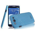 IMAK Cowboy Shell Quicksand Cases Covers for Samsung I9300 Galaxy SIII S3 - Blue (High transparent screen protector)