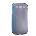 Nillkin Scrub TPU Soft Cases Skin Covers for Samsung I9300 Galaxy SIII S3 - Transparent black