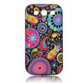 Painting Colorfull TPU Soft Cases Covers for Samsung I9300 Galaxy SIII S3 - Black