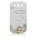 Painting TPU Soft Cases Covers for Samsung I9300 Galaxy SIII S3 - White