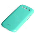 ROCK Colorful Glossy Cases Skin Covers for Samsung I9300 Galaxy SIII S3 - Blue (High transparent screen protector)