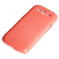 ROCK Colorful Glossy Cases Skin Covers for Samsung I9300 Galaxy SIII S3 - Red (High transparent screen protector)