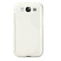 TPU Matte Soft Cases Covers for Samsung I9300 Galaxy SIII S3 - White