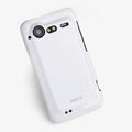 ROCK Colorful Glossy Cases Skin Covers for HTC Incredible S S710E G11 - White (High transparent screen protector)