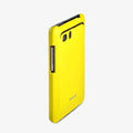 ROCK Colorful Glossy Cases Skin Covers for HTC Raider 4G X710E G19 - Yellow (High transparent screen protector)