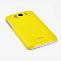 ROCK Colorful Glossy Cases Skin Covers for HTC Sensation XL Runnymede X315e G21 - Yellow (High transparent screen protector)
