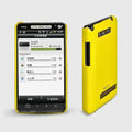 ROCK Colorful Glossy Cases Skin Covers for HTC T9188 A9188 - Yellow (High transparent screen protector)