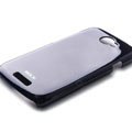 ROCK Colorful Glossy Cases Skin Covers for HTC Ville One S Z520E - Black (High transparent screen protector)