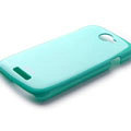 ROCK Colorful Glossy Cases Skin Covers for HTC Ville One S Z520E - Blue (High transparent screen protector)