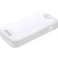 ROCK Colorful Glossy Cases Skin Covers for HTC Ville One S Z520E - White (High transparent screen protector)