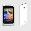 ROCK Colorful Glossy Cases Skin Covers for HTC Wildfire S A510e G13 - White (High transparent screen protector)